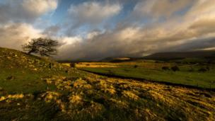 Ystradfellte pictured here in between showers, as seen by David Pearce.