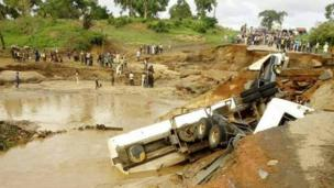Tatabu mini bridge in Mokwa LG, Niger state.