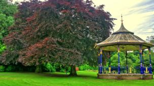 Bandstand in Musselburgh public park