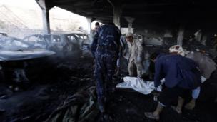 یمن میں جنازے پر فضائي حملہ