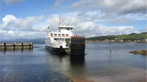 Cumbrae ferry docking at Largs