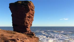 Seaton cliffs near Arbroath.