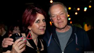 Bob Last & Fay Fife after the gig.