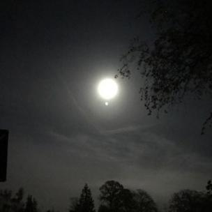 Луна над Хедли Даун и Грейшотом в Хэмпшире