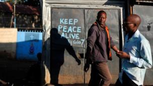 Uhuru Kenyatta a demandé à la population de préserver la paix.