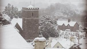 Picture postcard scenes in Clyro, Powys