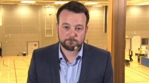 SDLP leader Colum Eastwood looked bitterly disappointed after his party lost all three of its seats