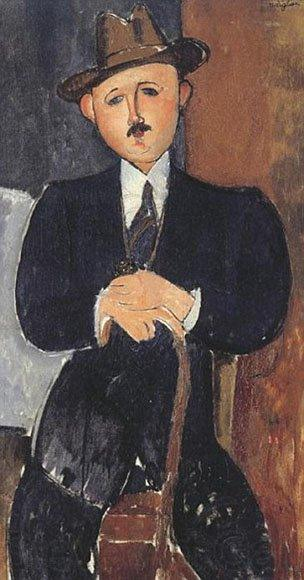 Seated Man with a Cane, Amedeo Modigliani,