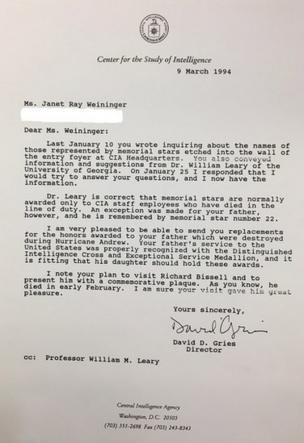 Carta da CIA