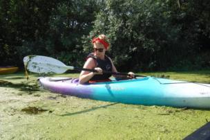 A kayak on the River Waveney