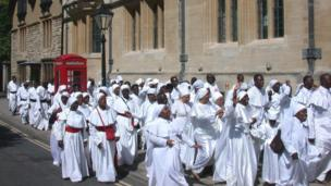 Nuns from Africa in St Giles, Oxford