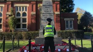 Whitchurch parade and service