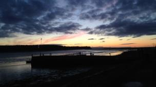 Sunset over Findhorn