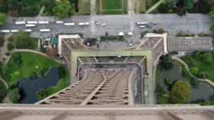 Desde lo alto de la Torre Eiffel