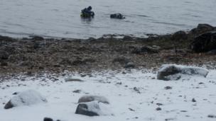 Divers in Loch Fyne