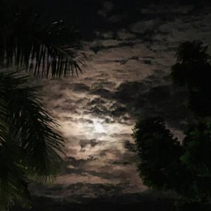 Night sky in Panama City