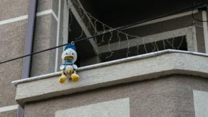 Donald Duck toy in Albania