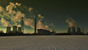 Didcot Power Station on a winter's day, taken Mike Weir