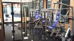 Gym flooding