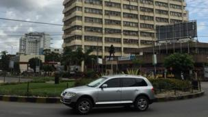Hapa ni katikati mwa mji wa Dar es Salaam eneo la posta: ndipo mahali ambapo palisemekana waandamanaji wangekutana, lakini hakuna kinachoendelea