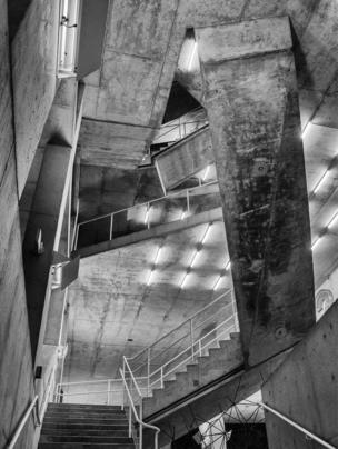 Stairwell of a multi-storey car park
