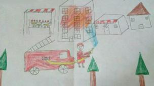 نقاشی از دبستان شهید رئیسیان