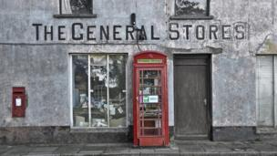 The former general store in Mathry, Pembrokeshire, and the village's telephone box turned community library