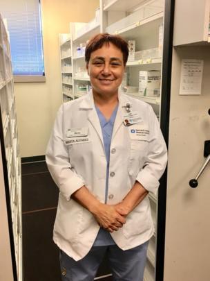 Marta Álvarez en su último trabajo en Cambridge, Estados Unidos