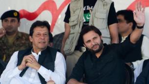 عمران خان اور شاہد آفریدی