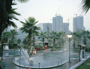 An outdoor swimming pool