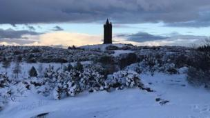 Scrabo Tower in Newtownards, as viewed from the golf course by Colin Patterson