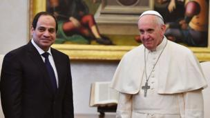بابا الفاتيكان والرئيس عبد الفتاح السيسي