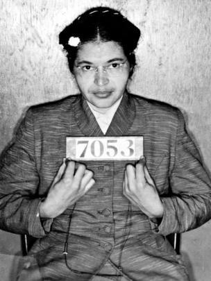 Rosa Parks cuando fue arrestada.