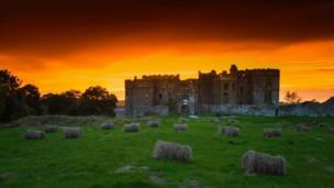 A moody sky above Carew Castle, Pembrokeshire, taken by Mandy Llewellyn