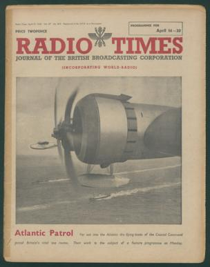 Front cover: 'Atlantic Patrol' - flying-boats of the Coastal Command patrol Britain's sea routes