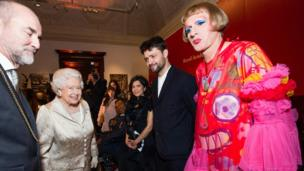 The Queen and Grayson Perry