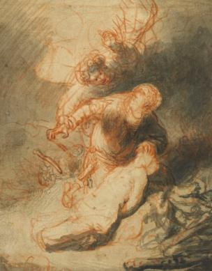 Rembrandt's Angel Preventing Abraham From Sacrificing His Son Isaac