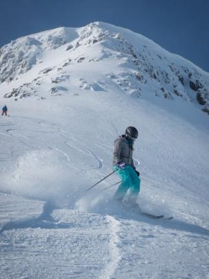 Skier Ellie Cary at Nevis Range