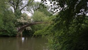 Rainbow Bridge in Oxford's University Parks.