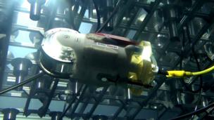 Toshiba's swimming robot