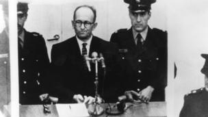 Austrian Nazi war criminal Karl Adolf Eichmann (1906 - 1962) on trial in Jerusalem