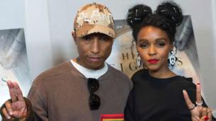 Pharrell Williams and Janelle Monae