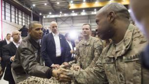 سفر از قبل اعلام نشده اوباما به بگرام، افغانستان (۲۰۱۴)
