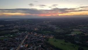 Aerial photo of Oxfordshire