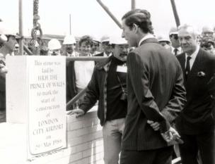 Prince Charles lays the foundation stone