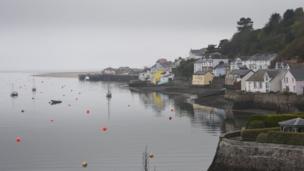 Misty morning at Aberdyfi, Gwynedd
