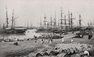 Kolkata (formerly Calcutta), Shipping in the Hooghly, c. 1860 Courtesy MAP / Tasveer