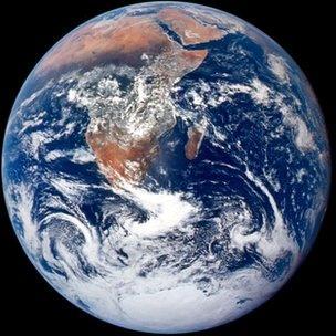 Foto da superficie da Terra feita em 1972