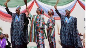 Muhammadu Buhari, aya rẹ, Aisha, aya igbakeji aarẹ, Dọlapọ ati Yẹmi Ọsinbajo,igbakeji aarẹ