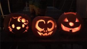 Josie, Aliyah and Candy's pumpkins